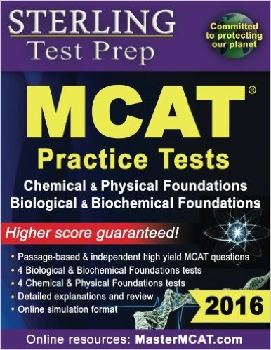 Sterling Test Prep MCAT Practice Tests Chemical Physical Biological