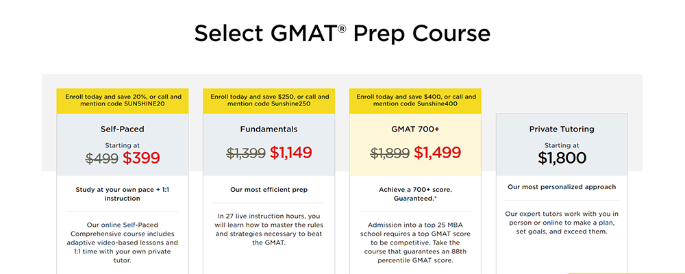ThePrincetonReview Gmat Courses