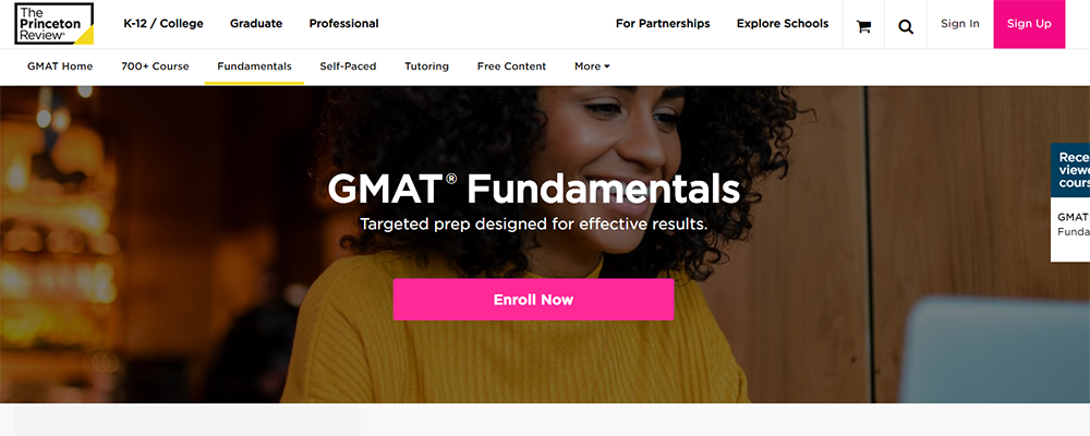 ThePrincetonReview Gmat Fundamentals