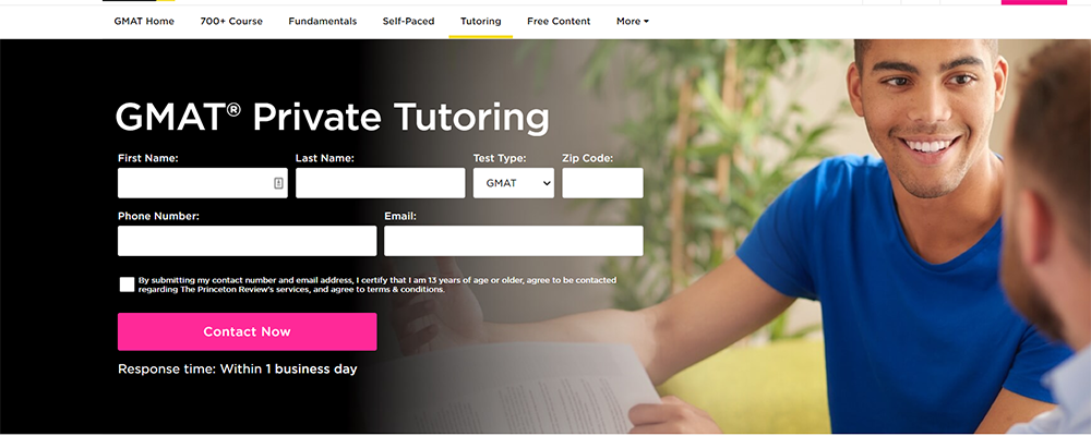 ThePrincetonReview Gmat Private Tutoring
