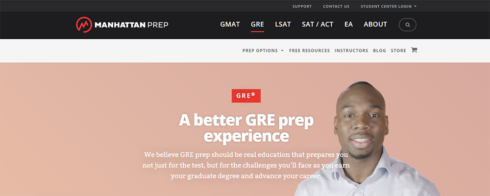 Manhattan Prep GRE site