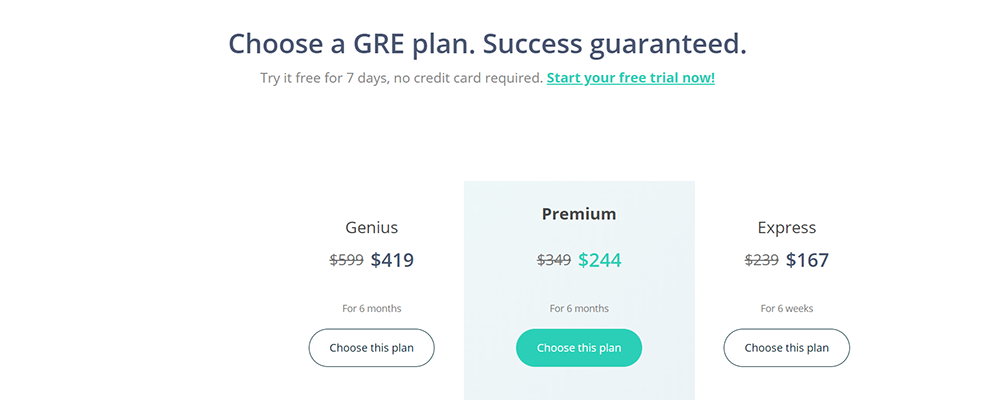 examPAL GRE pricing