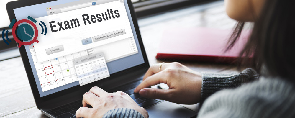 Exam results concept