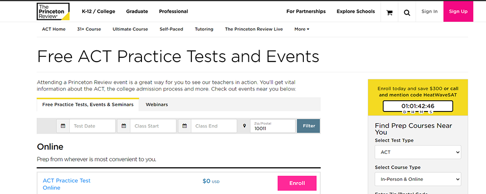 The Princeton Review ACT Practice Test